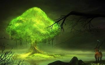 Glowing Tree Mac wallpaper