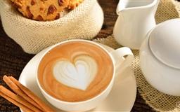 Heart On Coffee Mac wallpaper