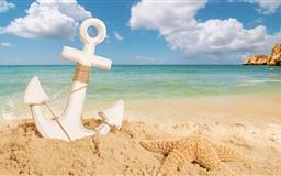 Anchor On The Beach Mac wallpaper