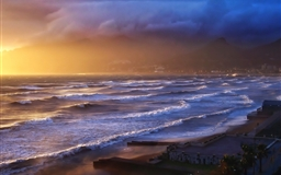 Stormy Sunset Mac wallpaper