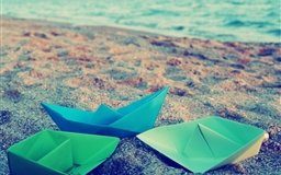 Paper Boats Origami Surface
