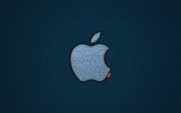 Apple Blue Jeans Logo Mac wallpaper