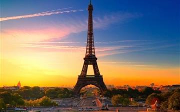 Eiffel Tower At Sunrise Mac wallpaper
