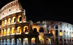 Lighted Colosseum Mac wallpaper
