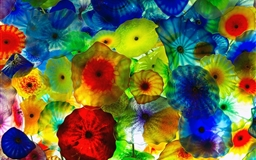 Colorful Vegas jellyfish Mac wallpaper