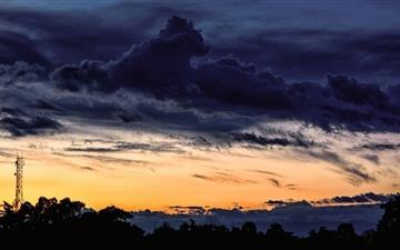 Dark Blue Sky Mac wallpaper