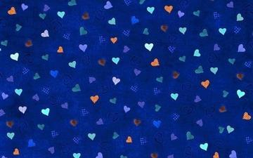 Hearts Blue Background Mac wallpaper