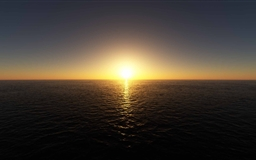 Perfectly Clear Sunset Sky Mac wallpaper