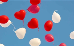Valentines Day Heart Balloons Mac wallpaper