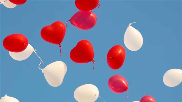 Valentines Day Heart Balloons Mac Wallpaper