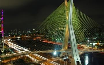 Octavio Frias De Oliveira Bridge Mac wallpaper
