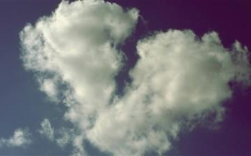 Broken Heart Shaped Cloud Mac wallpaper