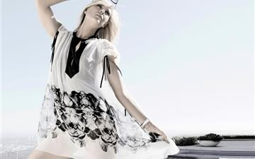 Girl In White Dress 3 Mac wallpaper