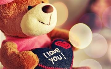 I Love You Teddy Bear Mac wallpaper