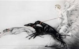 Greyhounds Drawing Mac wallpaper