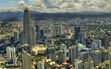 Kuala Lumpur From The Air Mac wallpaper