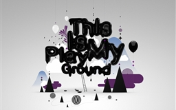 Abstract Playground Mac wallpaper