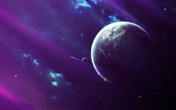 Purple Space Clouds Mac wallpaper