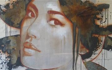 Woman Portrait Graffiti Mac wallpaper