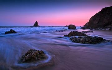 Purple Sunset Light Mac wallpaper