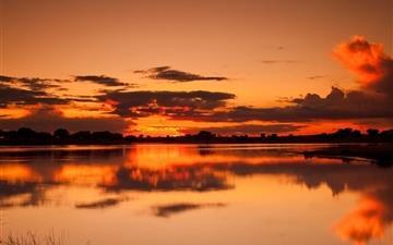 Sunset Reflection Mac wallpaper