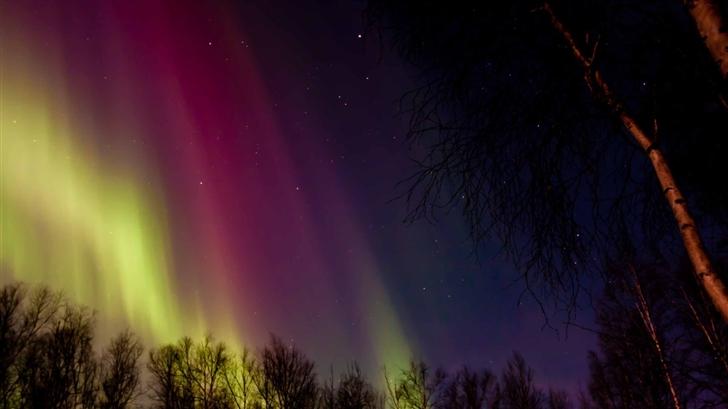 Aurora Borealis Rainbow Colors Mac Wallpaper