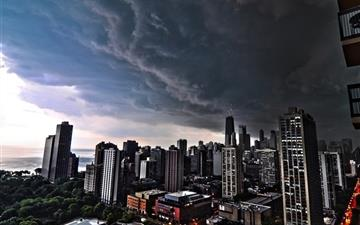 Storm Clouds Over Chicago Mac wallpaper