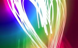 Neon Heart Mac wallpaper