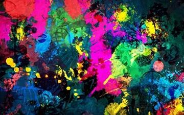 Colorful Paint Splatter Mac wallpaper
