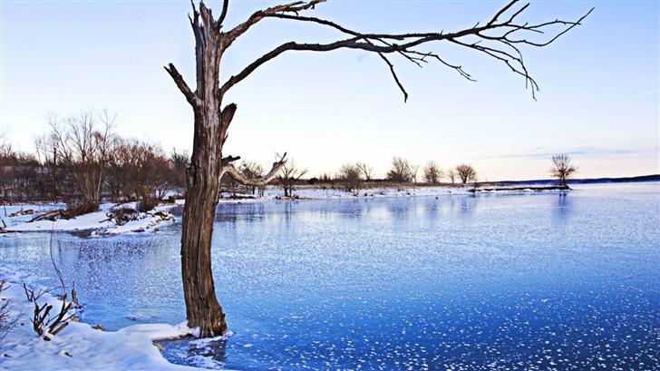 Clinton Lake Frozen Mac Wallpaper