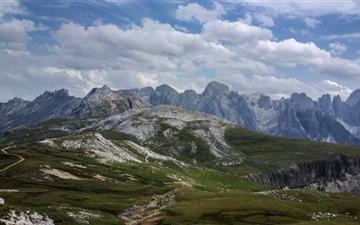 Rosengarten Mountain Range In Italy Mac wallpaper