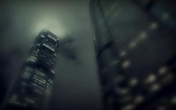 Skyscrapers At Night 2 Mac wallpaper
