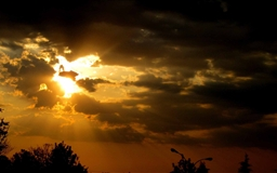 Golden Crepuscular Rays Mac wallpaper