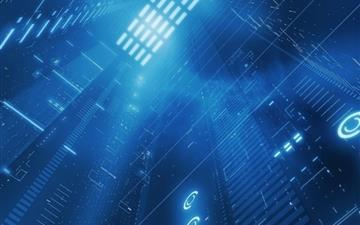 Information Charge Data Light Blue Mac wallpaper
