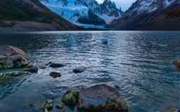 Cold Mountain Lake In Argentina Mac wallpaper