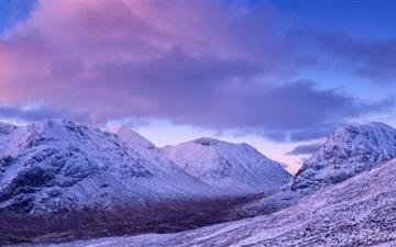Mountain Range Winter Mac wallpaper
