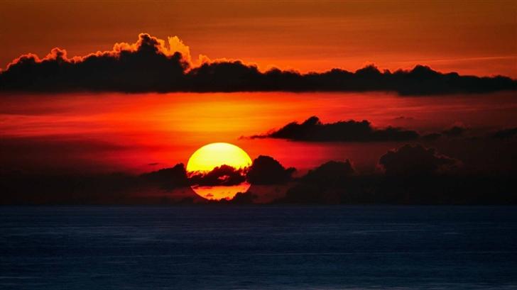 Red Sky Big Sunset Mac Wallpaper