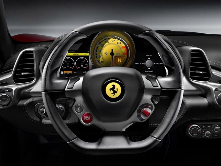 2010 Ferrari 458 Italia Steering Wheel Mac Wallpaper