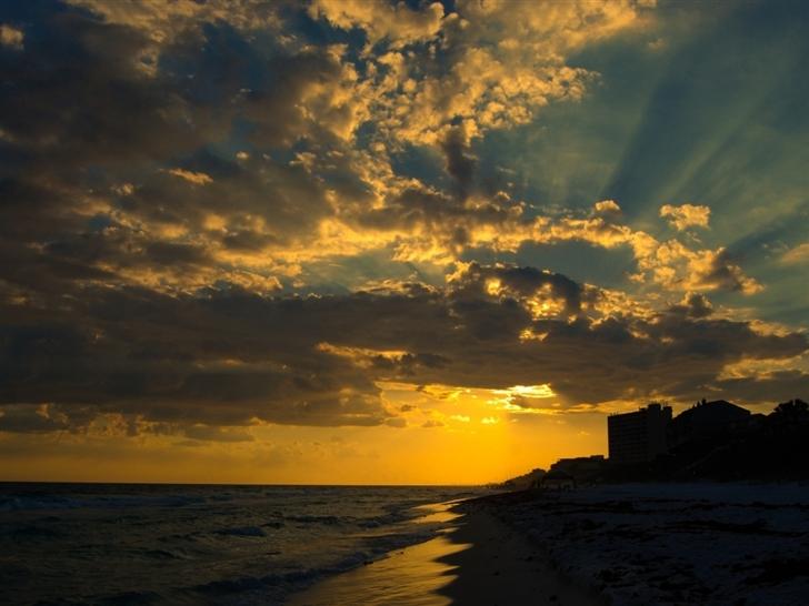 Sunset At Seagrove Mac Wallpaper