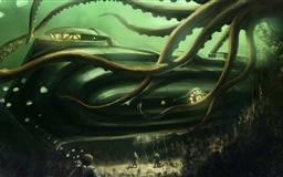 Submarine Underwater Painting Mac wallpaper