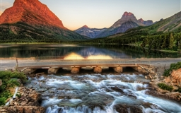 The Glacier National Park At Sunrise Mac wallpaper