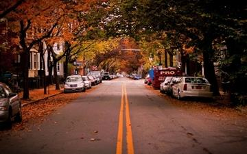 American Town Autumn Mac wallpaper