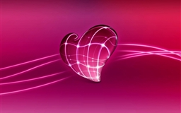 3D Pink Heart Mac wallpaper