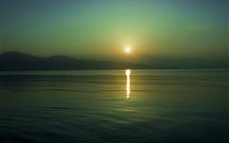 Sun reflection sunset
