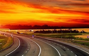The Way To Sunset Mac wallpaper