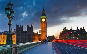 Big Ben Uk London City Street Mac wallpaper