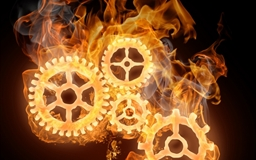 Wheels On Fire Mac wallpaper