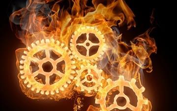 Wheels On Fire Mac wallpaper