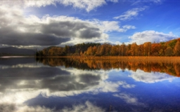 Autumn Lake Reflection Mac wallpaper