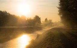 Golden Morning Mist Mac wallpaper